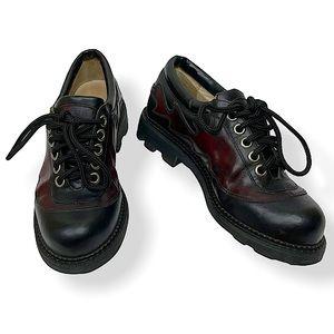 John Fluevog Vintage 7th Heaven Flaming Derby Shoe